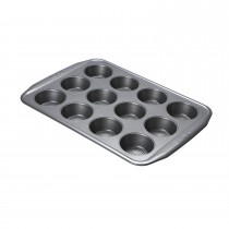 Circulon 12 Cup Muffin Tin, Silver