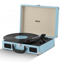 Akai Bluetooth Record Player, Pastel Blue