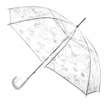 Totes PVC Walker Umbrella, White Floral