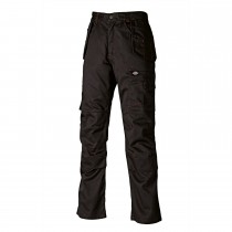 "Dickies 32""R Red Hawk Pro Work Trousers, Black"