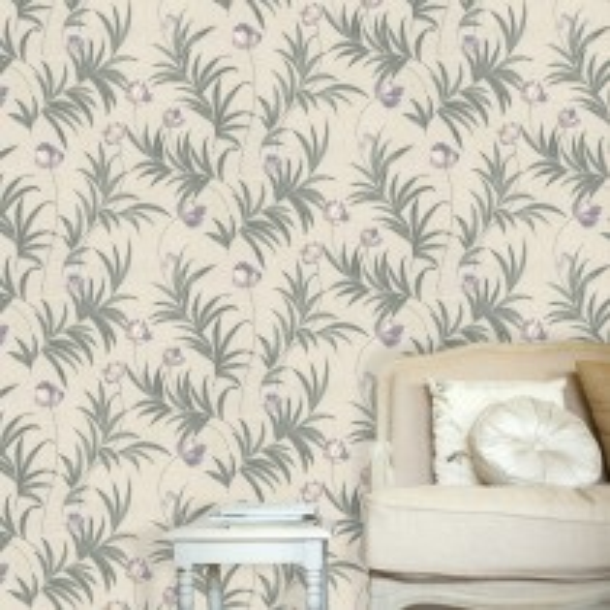 Belgravia Flavia Wallpaper, Lilac/ Silver