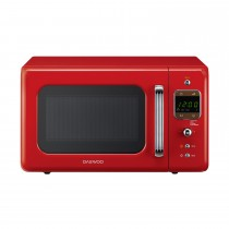 Daewoo 801w Touch Control Microwave, Red
