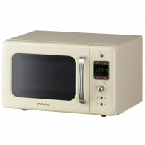 Daewoo 800w Touch Control Microwave, Cream