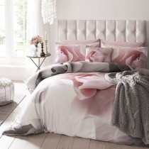 Ted Baker Porcelain Rose Duvet Cover, Double, Pink Grey
