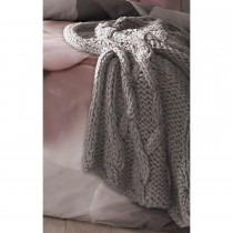 Ted Baker Chunky Cable Knit Throw, Stone
