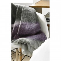 Ted Baker Shaded Knitted  Fringe Throw, Grey Purple Ombre