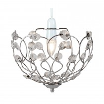 Casa Elizabeth Non Electric Pendant with Acrylic Beads, Chrome