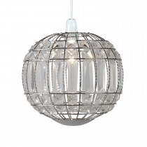 Casa Elizabeth Non Electric Pendant with Acrylic Bands Round, Chrome