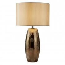 Casa Shirley Table Lamp Metallic, Black