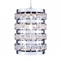 Casa Crystal Natalie Non Electrical Pendant With Beads, Chrome