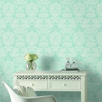 Graham And Brown Venetian Damask, Blue