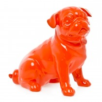 Casa Sitting Dog Sculpture, Orange