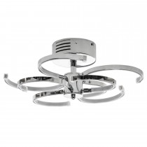 Casa Channel 8 Ceiling Light, Chrome