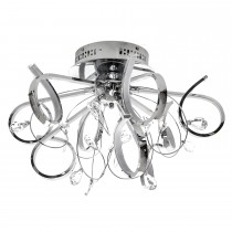 Casa Demi 9 Ceiling Light, Chrome