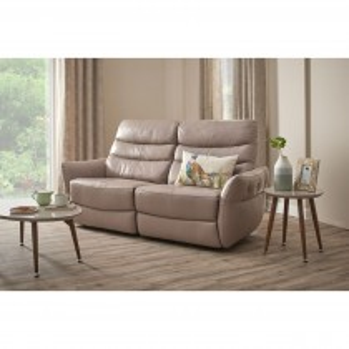 Casa Blush 2.5 Seater Power Recliner Sofa