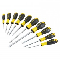Stanley 10pc Essential Screwdriver Set, Black/yellow