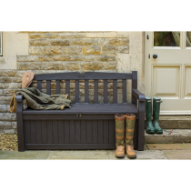 Garden Must Haves Iceni Storage Bench, Brown