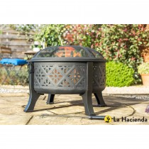 La Hacienda Moresque Firepit With Grill, Brushed Bronze Effect