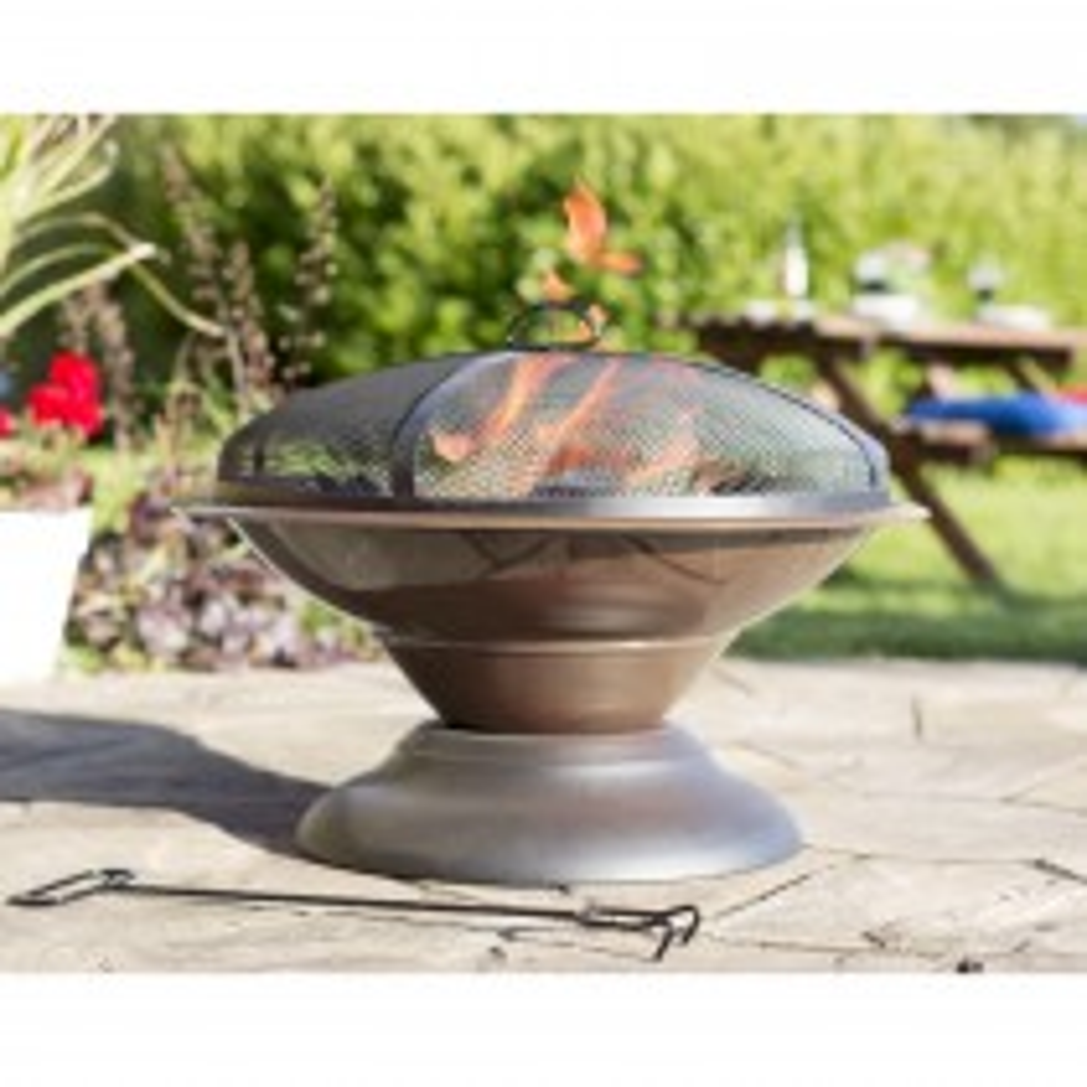 La Hacienda Moda Steel Enamelled Firepit, Bronze