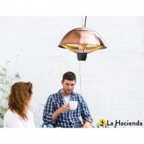 La Hacienda Hanging Halogen Heater 1500w, Copper Effect