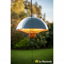 La Hacienda 1500W Hanging Halogen Heater , Silver Effect