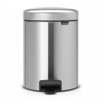 Brabantia newIcon Pedal Bin, 5 Litre, Matt Steel, Finger Print Proof