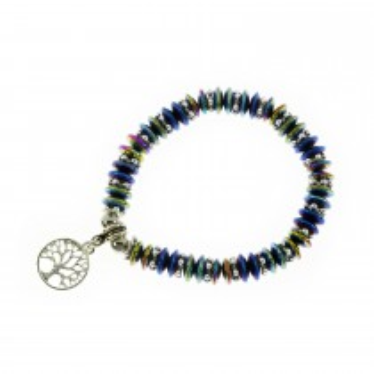 Silver Tree of Life Magnetic Bracelet