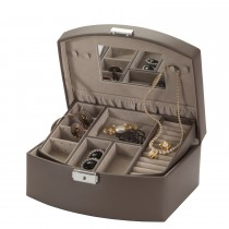 Lionite Mele Mink Finish Jewellery Case, Brown