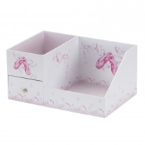 Lionite Mele Ballet Cosmetic/jewel Organisr, White/pink