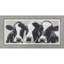 Art Marketing Dairy Dolls Framed Print, Black