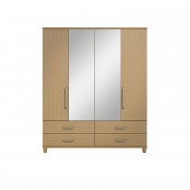 Casa Deco 4dr Mirror Gents Robe Onesize