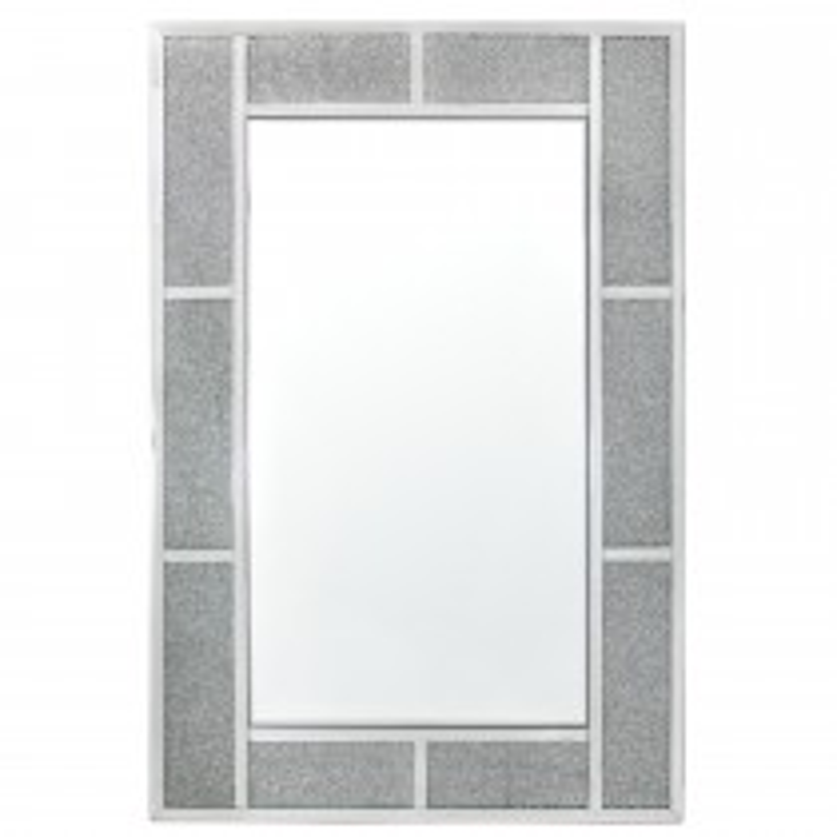 Crystal Brick Wall Mirror, Silver