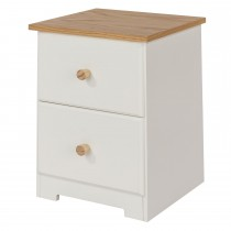 Core Products Colorado 2 Drw Petite Bedside Onesize, Soft Cream & Oak