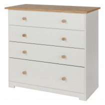 Core Products Colorado 4 Drawer Chest Onesize, Soft Cream & Oak