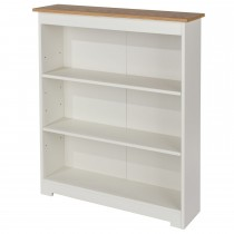 Core Products Colorado Low Wide Bookcase Onesize, Soft Cream & Oak