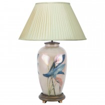 Aimbry Arum Lilly Tall Urn Table Lamp, Cream