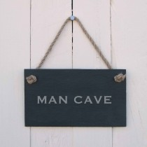 House Nameplates Man Cave Sign, Black
