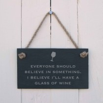 House Nameplates Everyone Should Believe Sign, Black