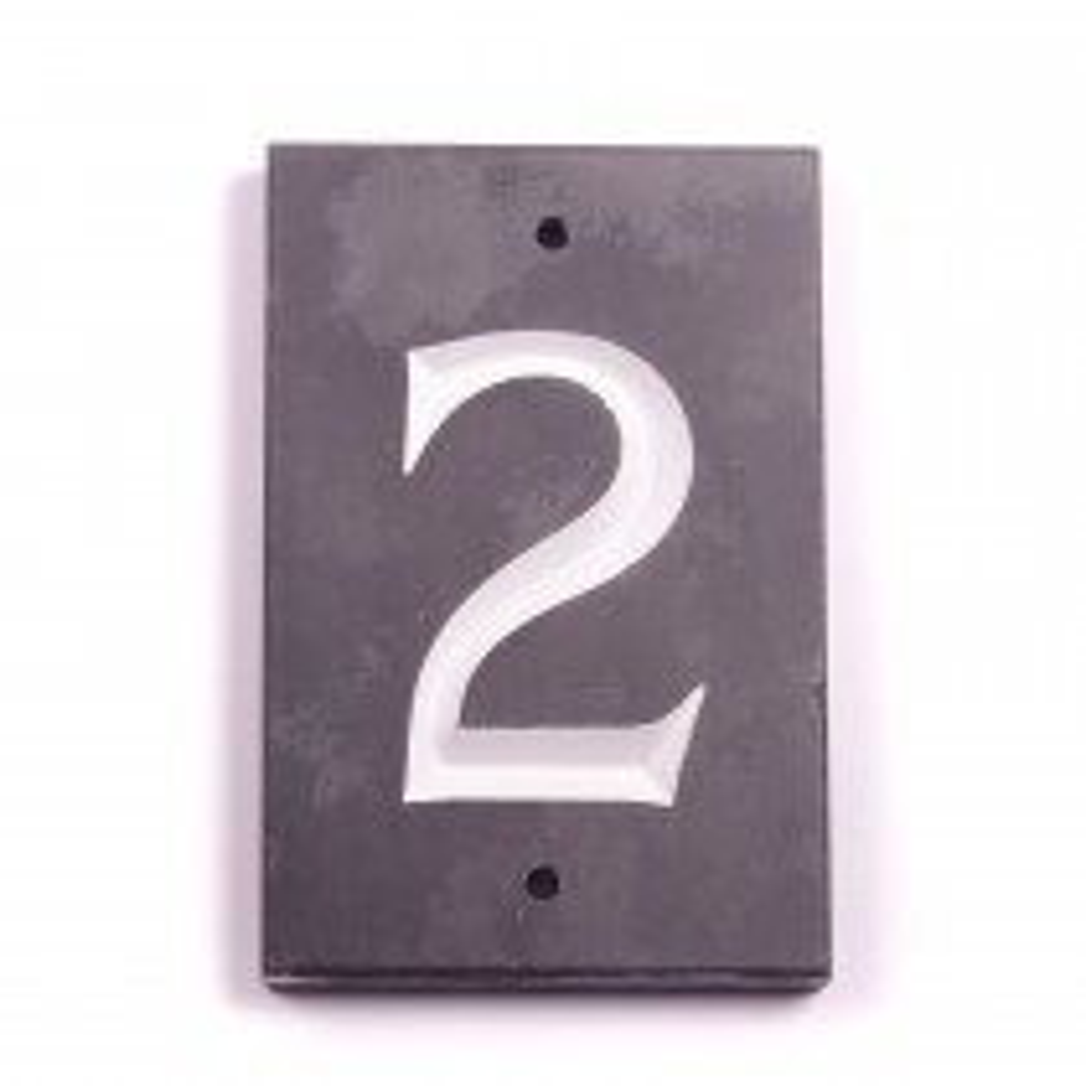 House Nameplates Slate Number Tile 2, Slate