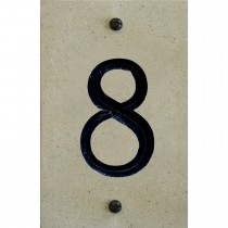 House Nameplates Limestone Number Tile - 8, Cream