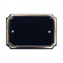 House Nameplates Blank Brass Rectangle Plate, Brass