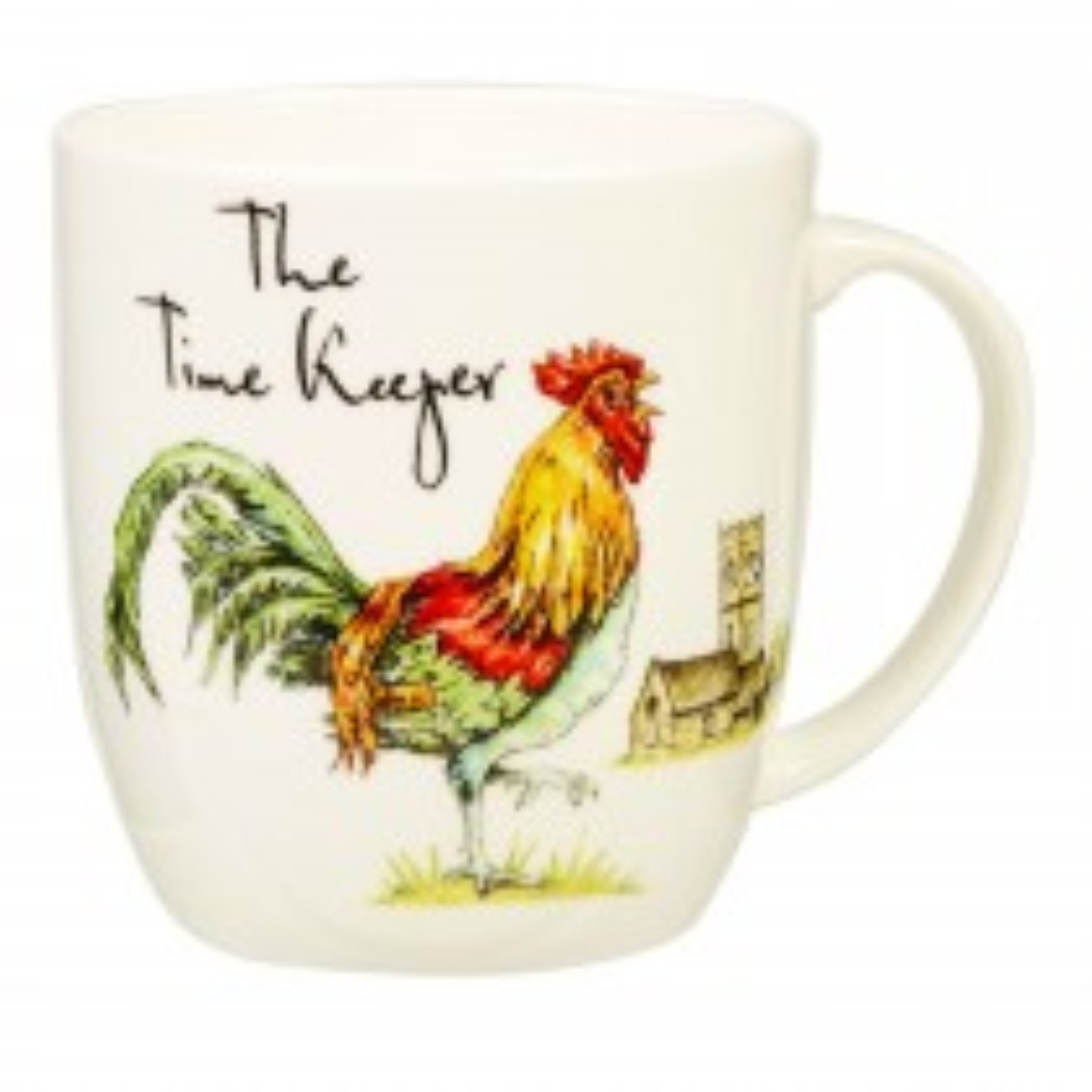 Churchill China Time Keeper Olive Mug, White