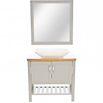 Casa New England 2 Door Vanity Unit, Grey