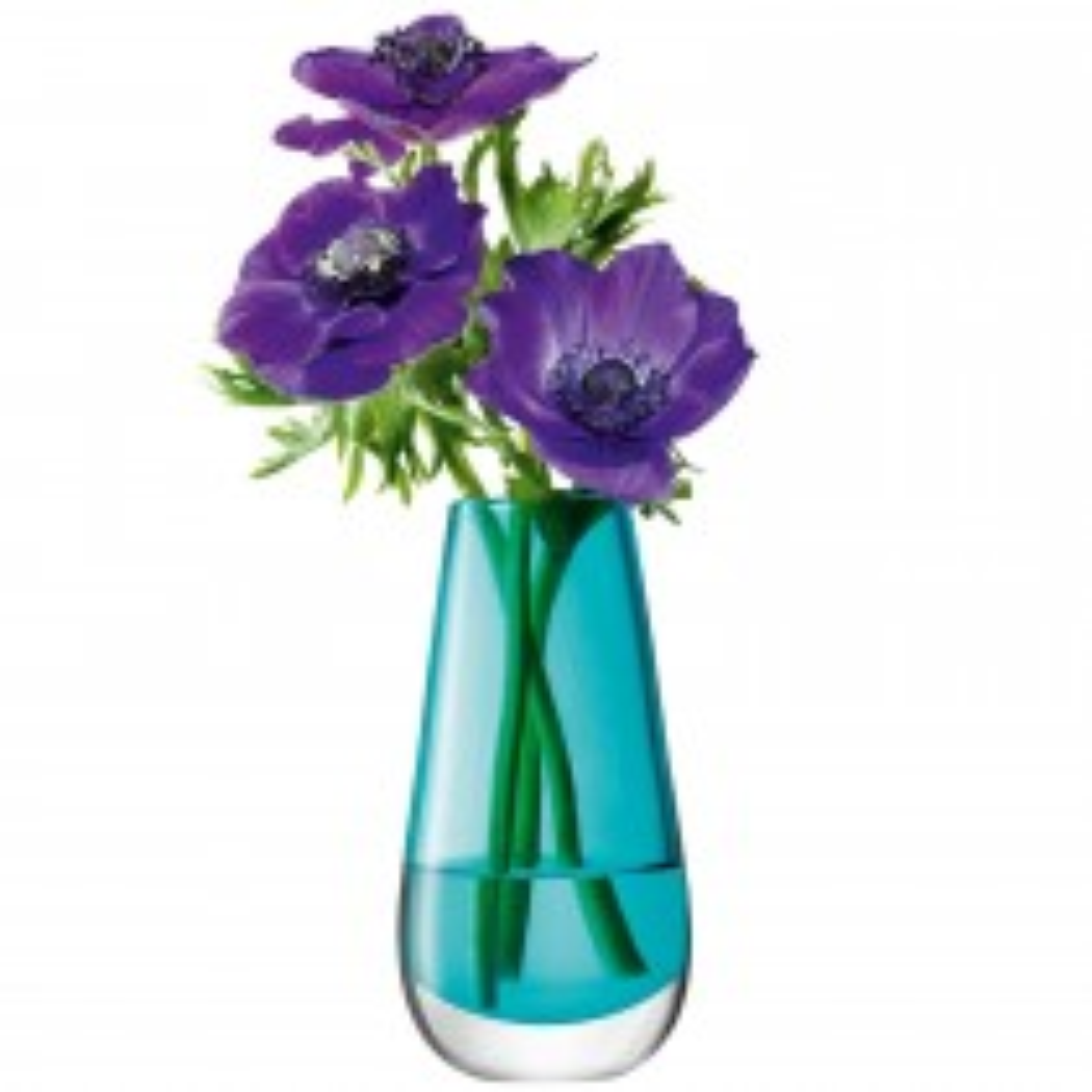 Lsa Flower Posy Vase Peacock, Peacock