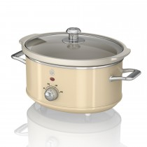Swan 3.5 Litre Retro Slow Cooker, Cream