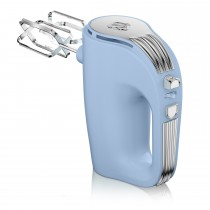 Swan 5 Speed Retro Hand Mixer, Pastel Blue