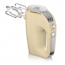 Swan 5 Speed Retro Hand Mixer, Cream
