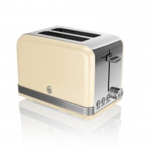 Swan 2 Slice Retro Toaster, Cream