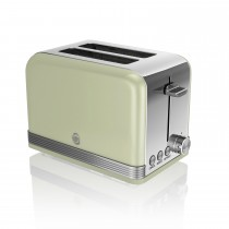 Swan 2 Slice Retro Toaster, Light Green