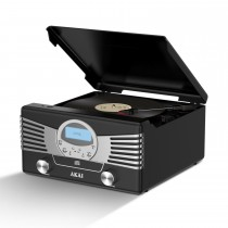 Akai Usb 4-in-1 Retro Turntable, Black